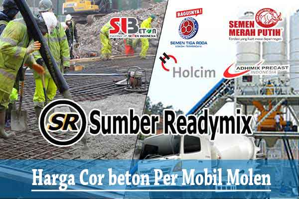 Harga Cor Beton 1 Truck Mobil Molen Jayamix Terbaru 2021