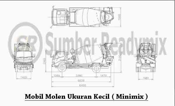 mobil truck molen kecil
